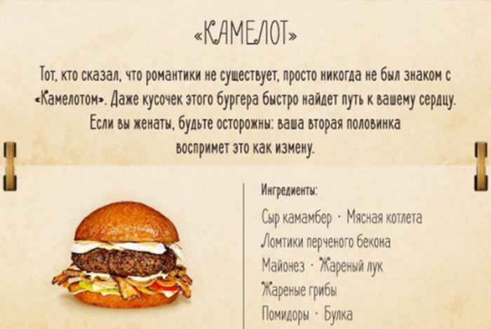 Бургер с говяжьей котлетой, печеным беконом и грибами.