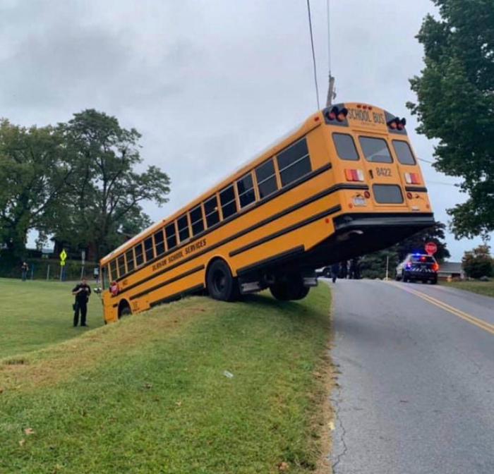 Школьный автобус сбился с маршрута. | Фото: Reddit.