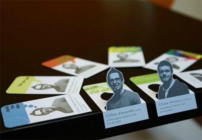 Визитные карточки с портретами.