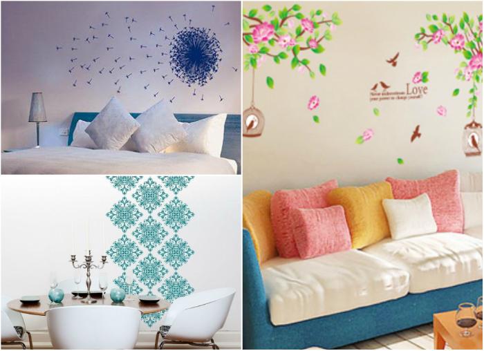 Виниловые наклейки - один из самых простых способов украшения стен.