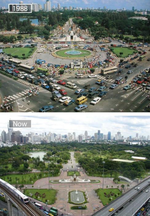 Бангкок в 1988-ом и в наши дни.