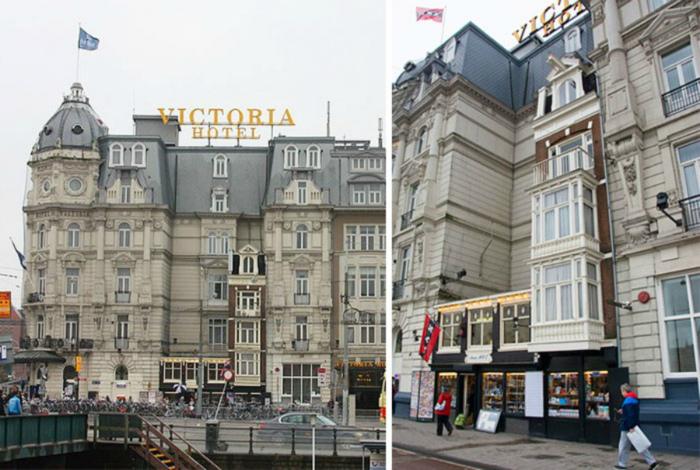 Два дома в здании отеля.