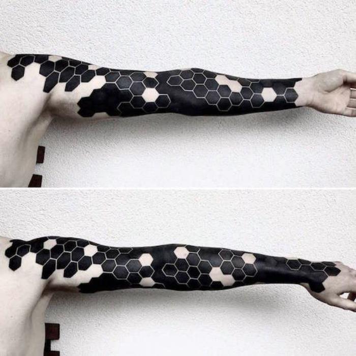 Оригинальная татуировка рукава.