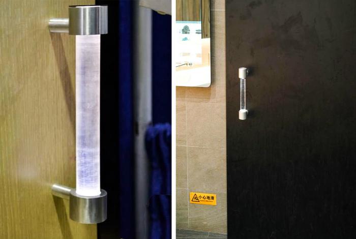 Ультрафиолетовая дверная ручка. | Фото: Модная дама.