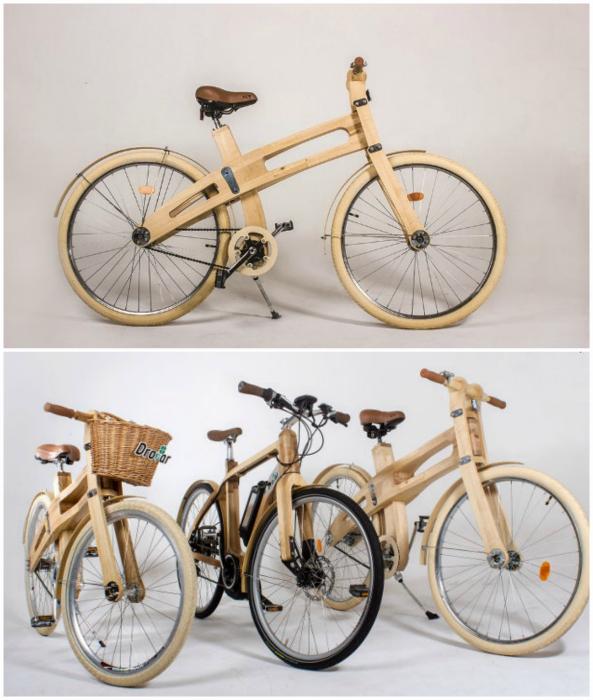 Деревянные велосипеды от компании BelWoodDoors.