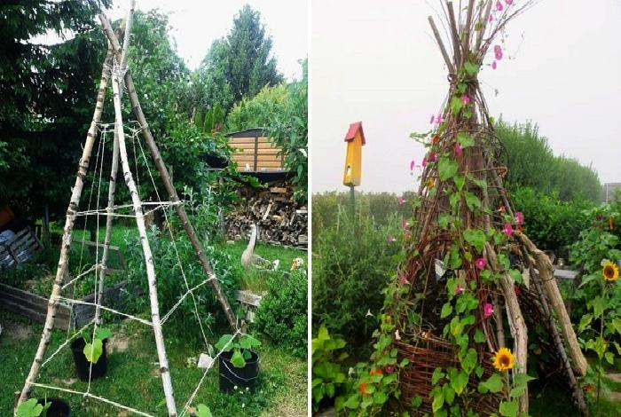 Опоры для плетистых растений. | Фото: Так Просто!