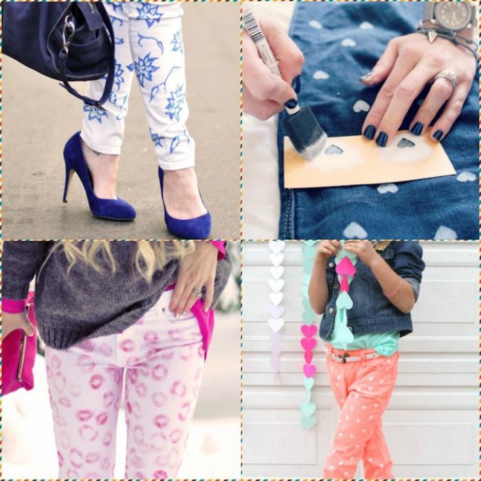 Старые джинсы приобретут абсолютно новый вид, если их покрасить.