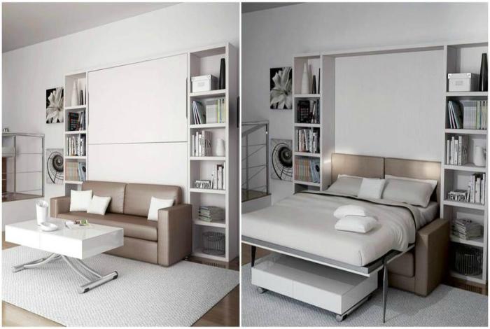 Трансформируемый мебельный блок. | Фото: RM Perera.