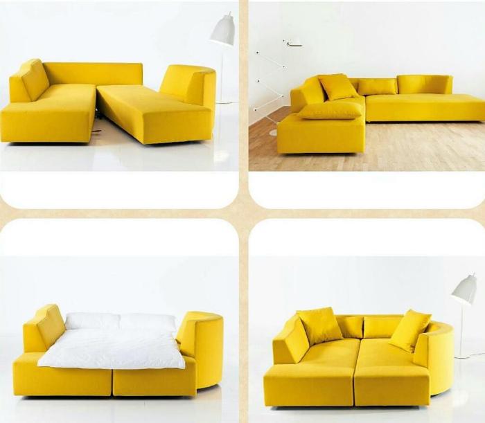 Комплект из модульных диванов. | Фото: Pinterest.