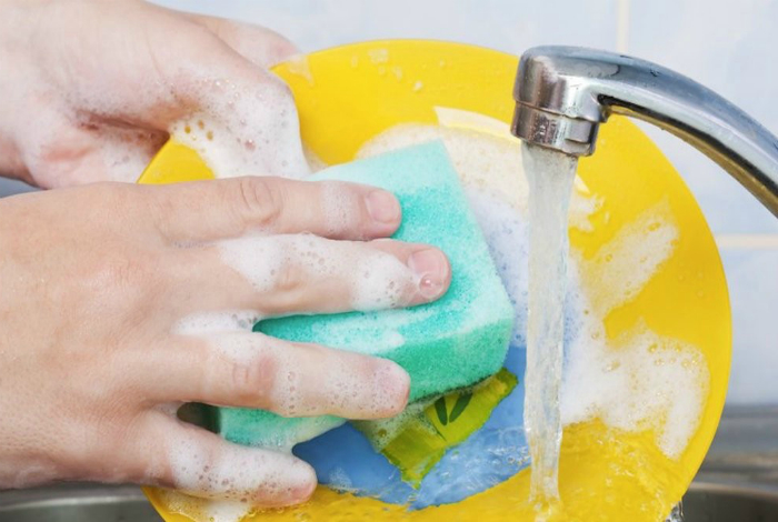 Срок службы губки для мытья посуды.