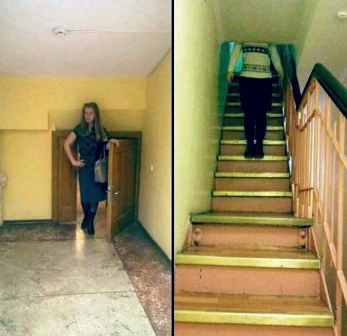 Странная лестница.