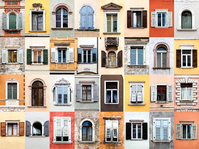 Окна провинции Тренто, Италия.