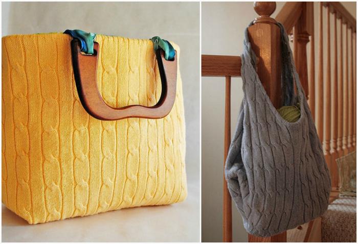 Оригинальные вязанные сумки.