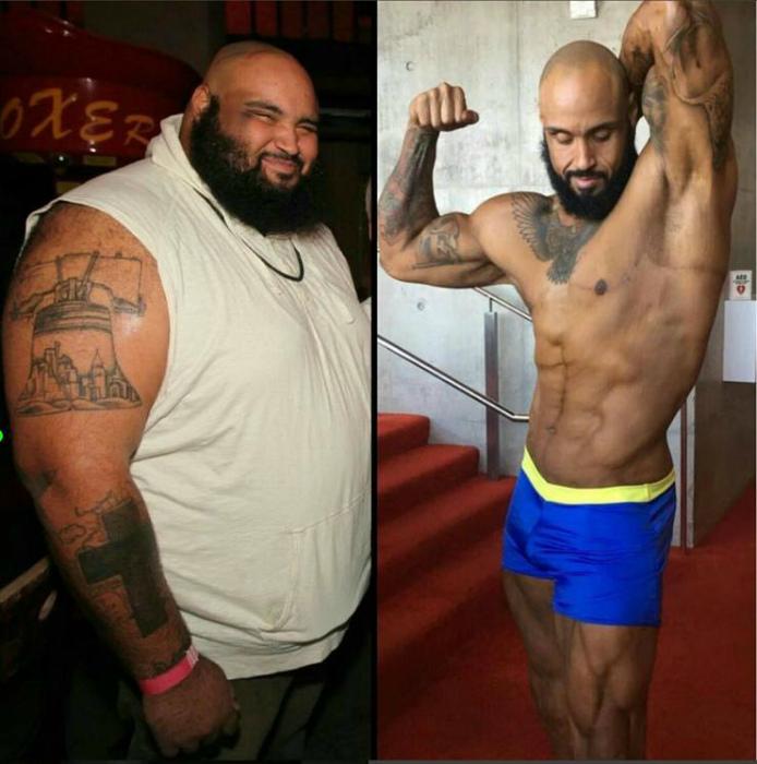 Сто пятьдесят килограмм за три года.