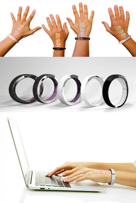 Стильные наручные часы Ritot, которые проецируют точное время на руку владельцу.