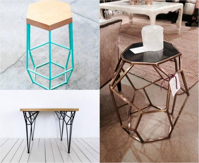 Мебель в геометрическом стиле.