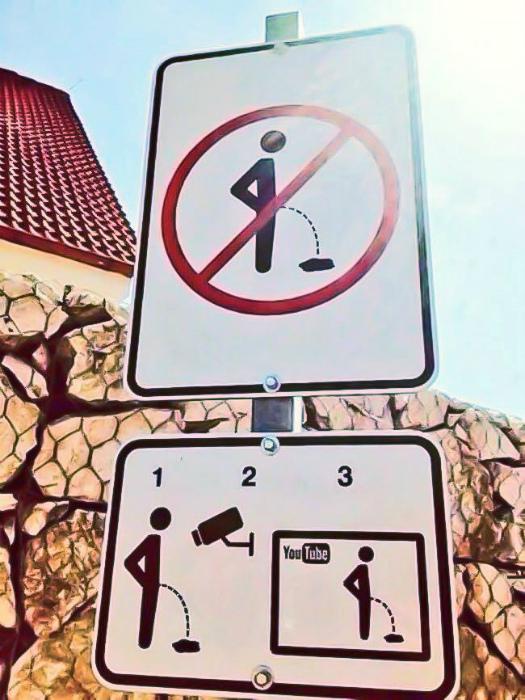 Предупреждение в картинках.