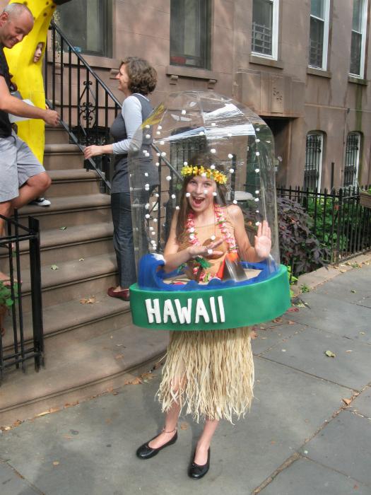 На Гавайях.