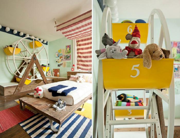 Детская комната в цирковом стиле.