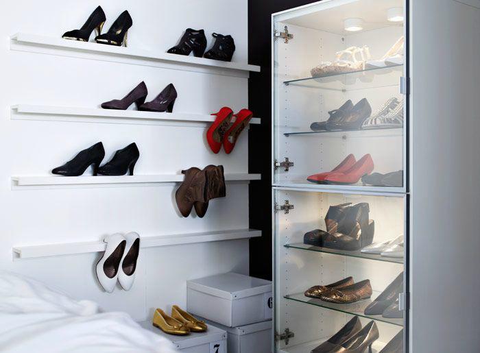 Оригинальные полки для обуви.