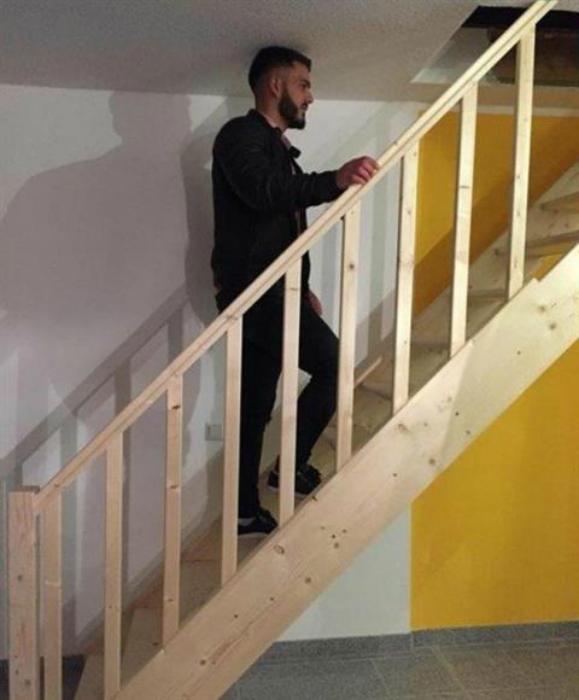 Опасная лестница.