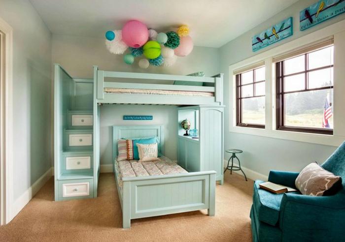 Очаровательная спальня в пастельных тонах.
