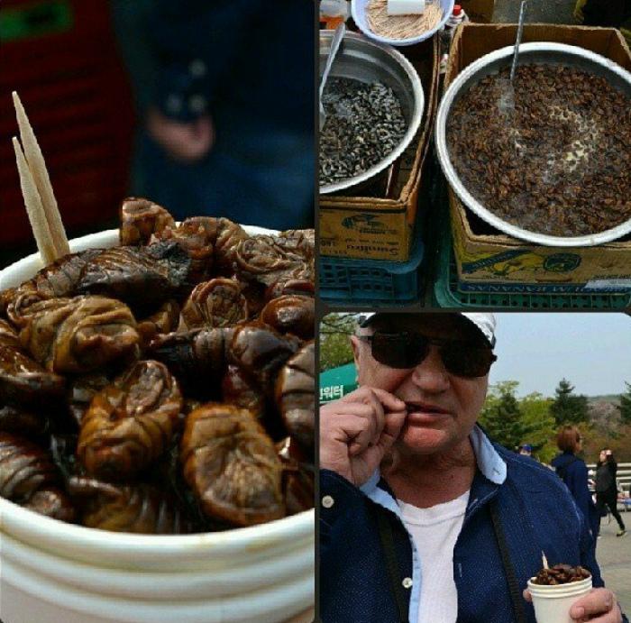 Уличные деликатесы из Южной Кореи. | Фото: Pressa.tv.