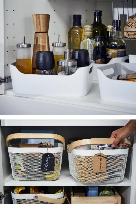 Разнообразные контейнеры для хранения. | Фото: Pinterest.