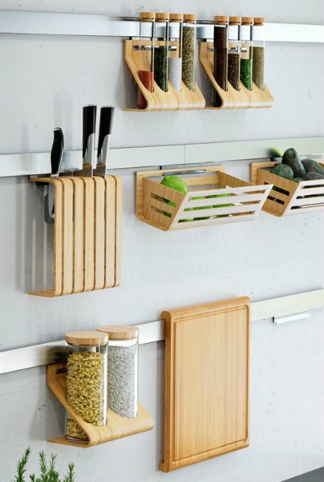 Небольшие подвесные конструкции для хранения мелочей. | Фото: Pinterest.