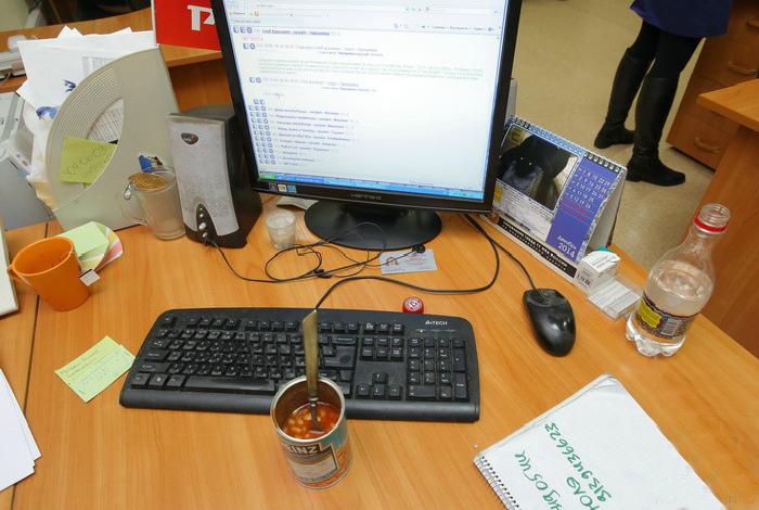 Чистота на рабочем столе.