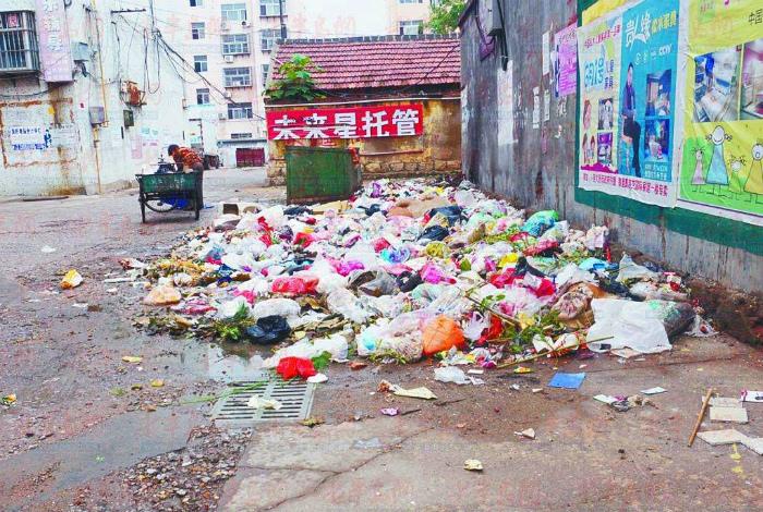 Мусор на улицах китайских городов.
