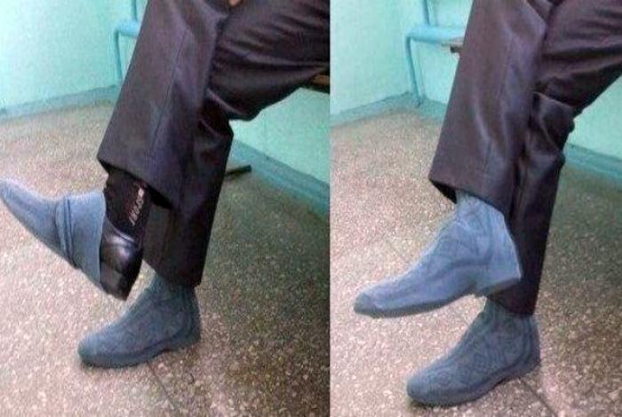 Хорошо, что есть носки! | Фото: uCrazy.ru.