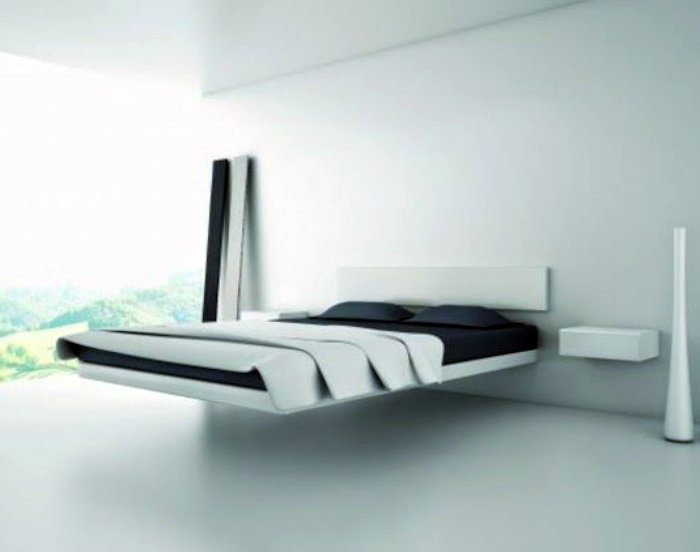 Лаконичная навесная кровать.