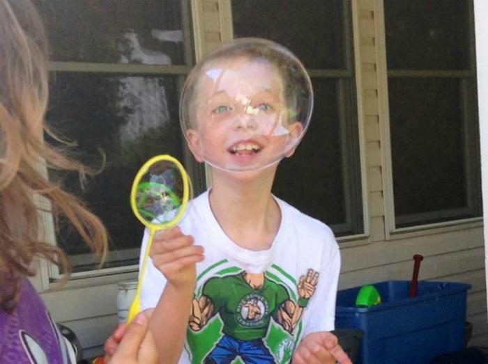 Забавный мыльный пузырь. | Фото: zapilili.ru.