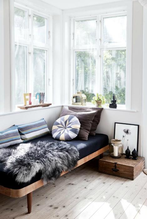 Место для отдыха в скандинавском стиле.