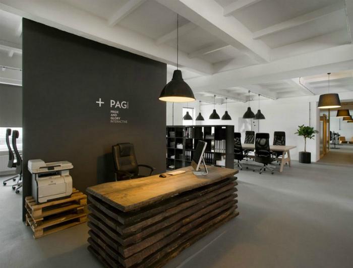 Офис в стиле лофт.
