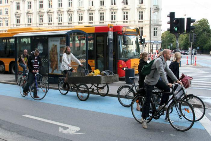 Преимущества для велосипедистов в Нидерландах.