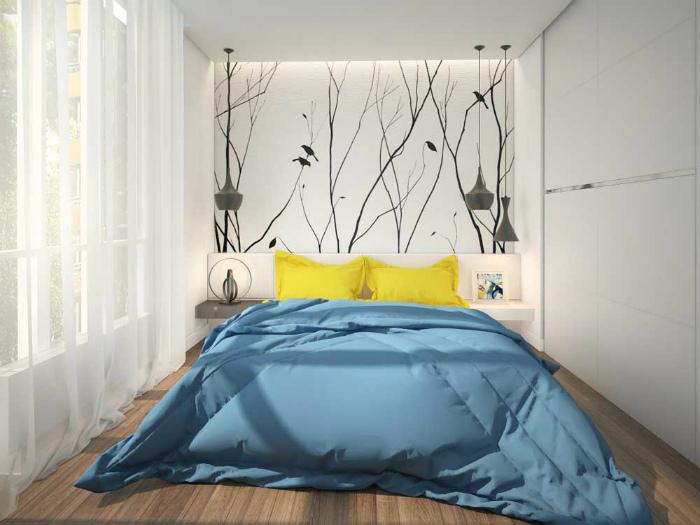 Уникальная белая спальня.