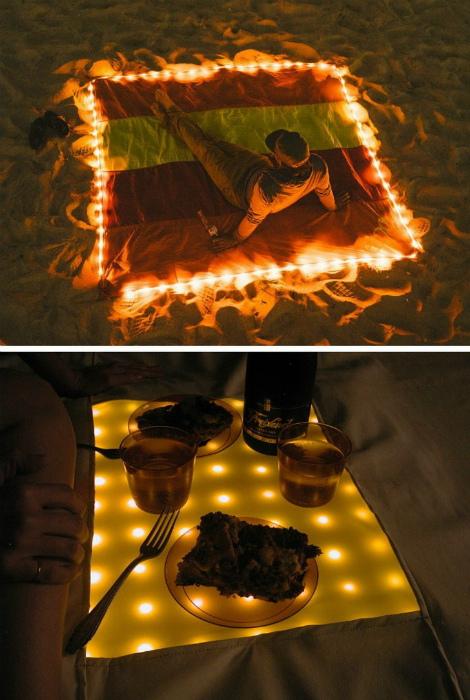 Подстилка с LED-подсветкой. | Фото: MetDaan.