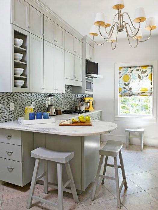 Классический стиль маленькой кухни.