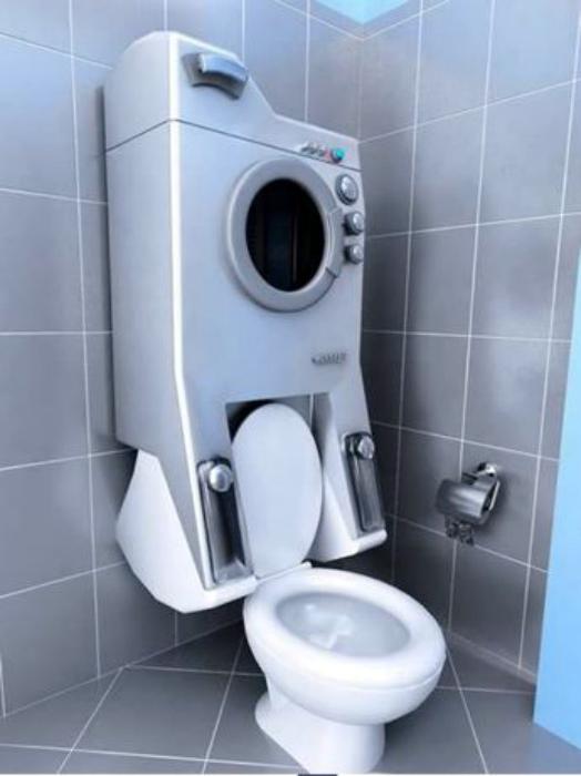 Навесная стиральная машинка. | Фото: Decoce.