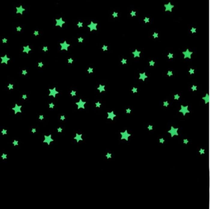Обои с фосфорными звездами. | Фото: Aunty Acid Buzz.