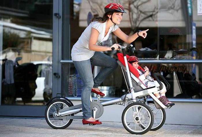 Велосипед для мамы и ребенка. | Фото: Shpock.