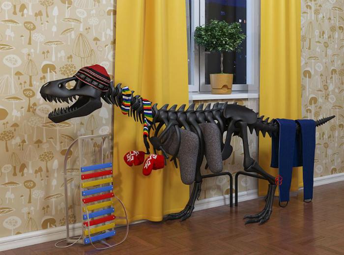 Обогреватель в виде динозавра.