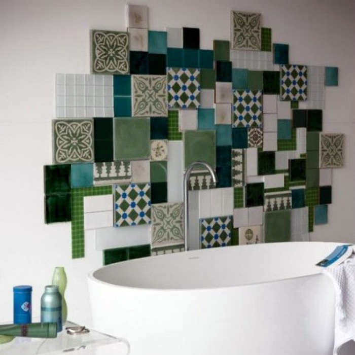 Дизайн в стиле пэчворк. | Фото: Marrakesh Zementfliesen.