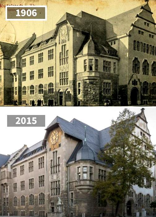 Здание суда в городе Рудольштадте, 1906 - 2015.