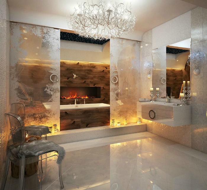 Роскошная ванная комната.