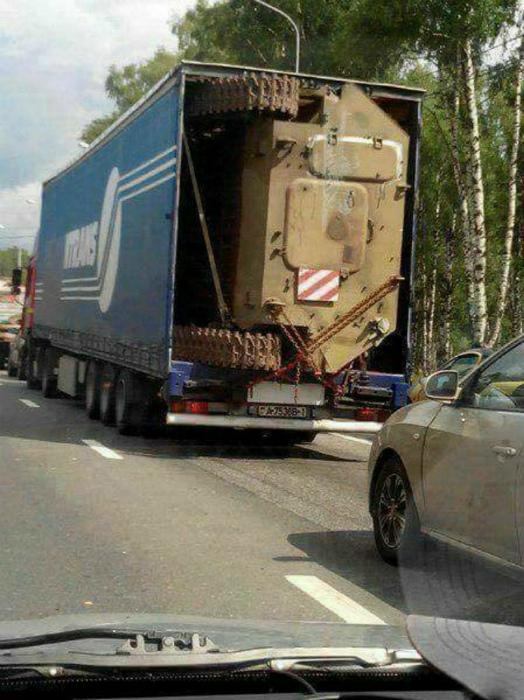 Танк в кузове. | Фото: Imgur.