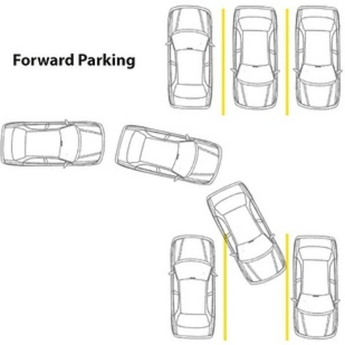 На тесной парковке лучше парковаться задом.