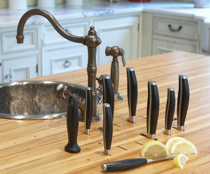 Хранение ножей.